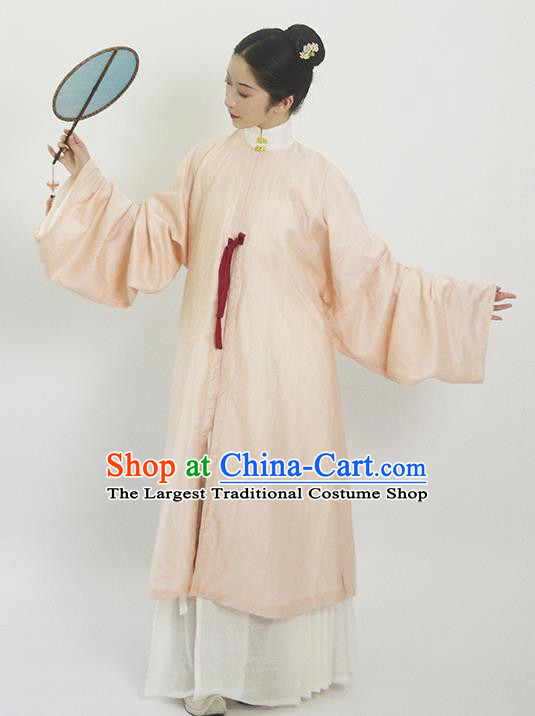 Traditional Chinese Ming Dynasty Rich Dowager Pink Hanfu Dress Ancient Nobility Lady Replica Costumes for Women