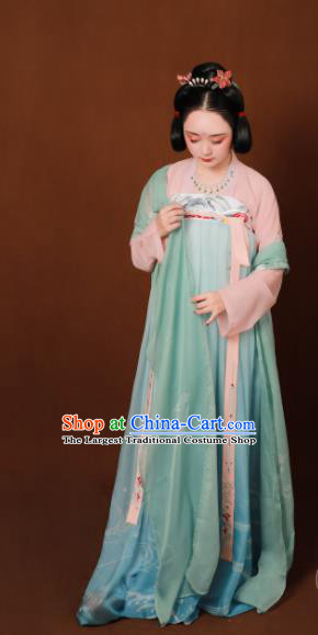 Traditional Chinese Tang Dynasty Court Maid Hanfu Dress Ancient Drama Palace Replica Costumes for Women