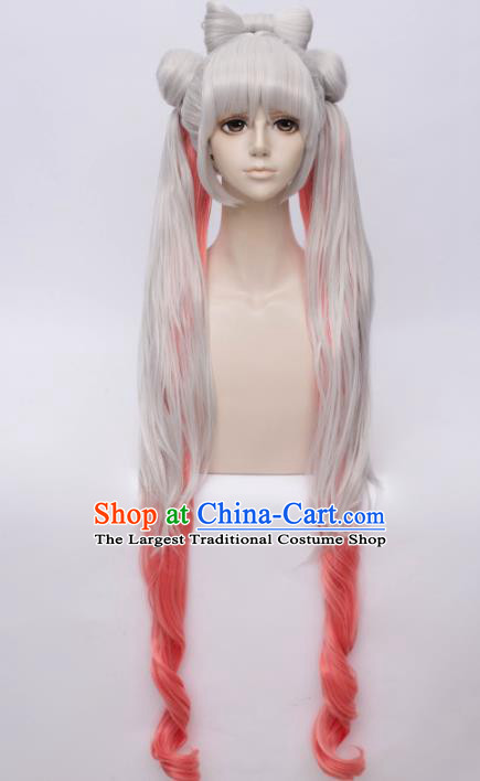Customized Chinese Cosplay Young Lady Wigs Game Character Hair Accessories Wig Sheath