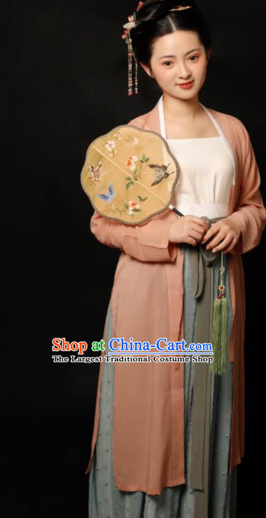 Traditional Chinese Song Dynasty Silk Hanfu Dress Ancient Drama Young Lady Replica Costumes for Women