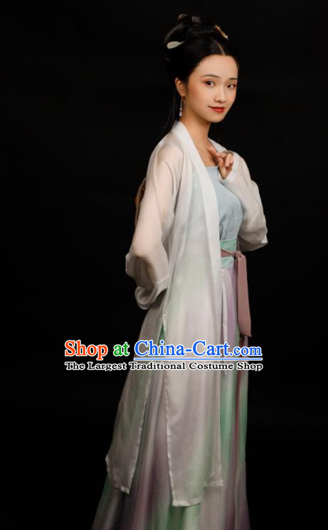 Traditional Chinese Song Dynasty Palace Princess Hanfu Dress Ancient Drama Court Lady Replica Costumes for Women