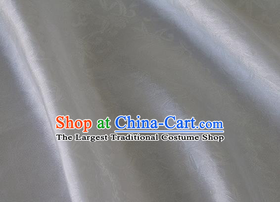 Asian Chinese Priest Frock White Silk Fabric Traditional Pattern Design Fabric Chinese Silk Fabric Material