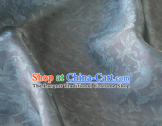 Asian Chinese Priest Frock Grey Silk Fabric Traditional Pattern Design Fabric Chinese Silk Fabric Material