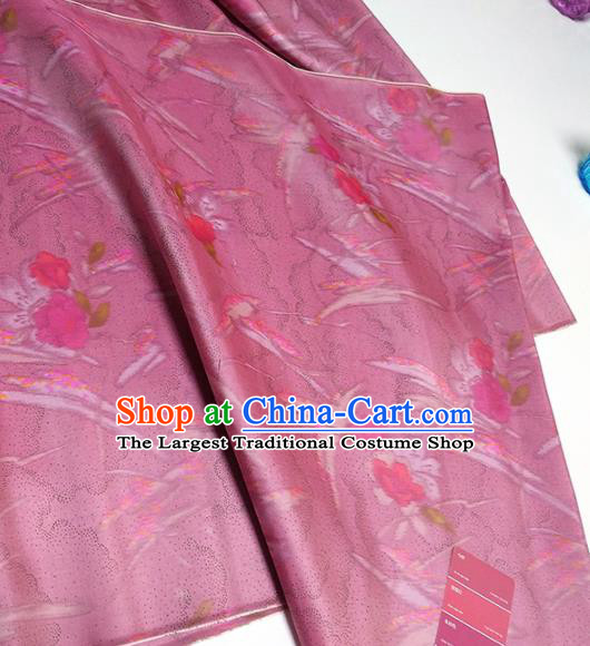 Chinese Traditional Pattern Design Amaranth Silk Fabric Asian China Hanfu Silk Material