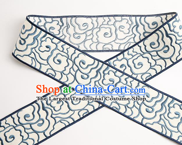 Chinese Traditional Hanfu Embroidered Clouds Pattern Band Fabric Asian China Costume Collar Accessories