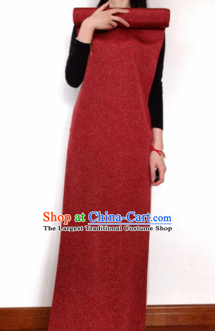 Chinese Traditional Pattern Design Dark Red Silk Fabric Asian China Cheongsam Silk Material