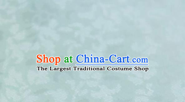 Chinese Traditional Pattern Design Light Green Silk Fabric Asian China Hanfu Mulberry Silk Material