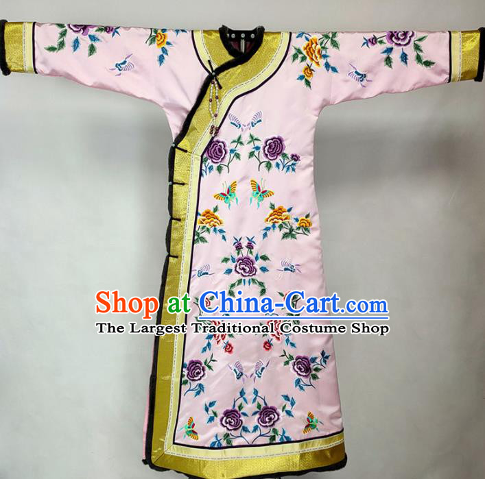 Chinese Traditional Manchu Court Lady Dress Ancient Qing Dynasty Imperial Consort Costumes for Women