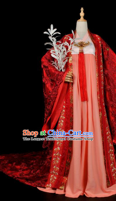 Chinese Traditional Tang Dynasty Palace Lady Dress Ancient Court Princess Costume for Women