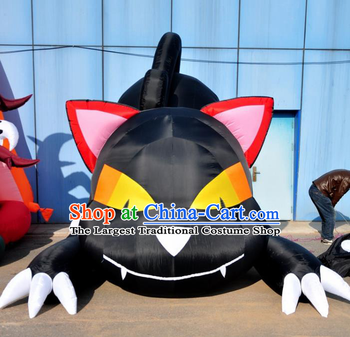 Large Halloween Inflatable Cat Models Haunted House Inflatable Arches