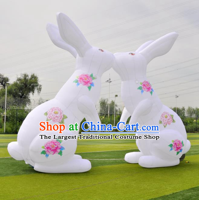 Large Halloween Inflatable Moon Rabbit Models Inflatable Arches Archway