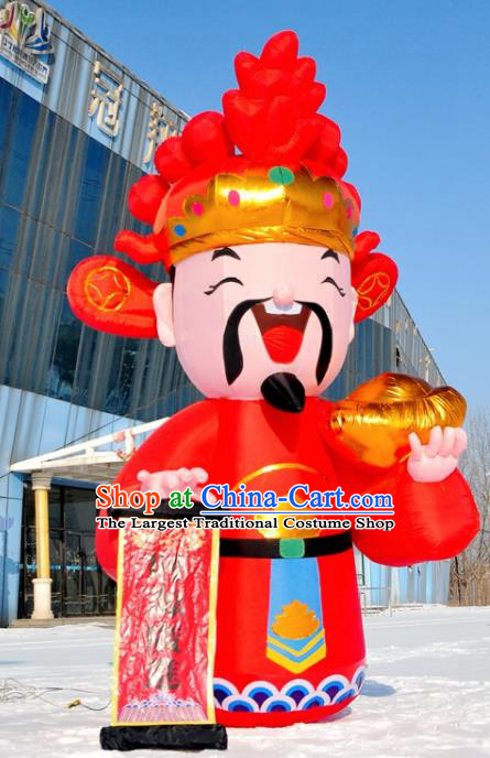 Large Chinese Inflatable Red God of Wealth Models Inflatable Arches Archway
