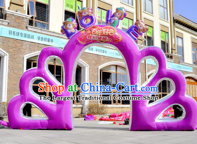 Large Christmas Inflatable Purple Archway Product Models Wedding Inflatable Arches