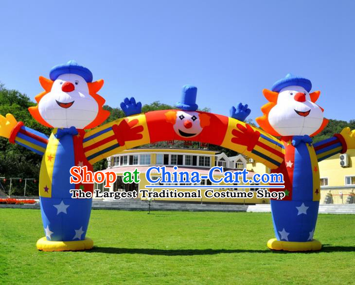 Large Kindergarten Inflatable Clown Archway Product Models Christmas Inflatable Arches