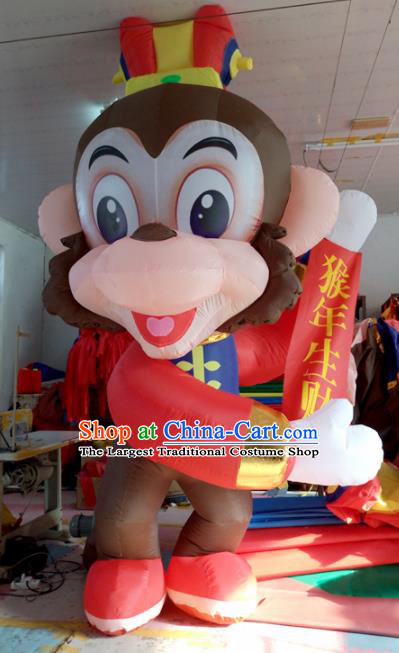 Large Chinese Cartoon Monkey Inflatable Product Models New Year Inflatable Arches