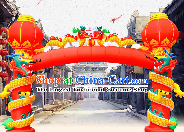 Large Chinese New Year Inflatable Dragon Models Inflatable Arches Archway