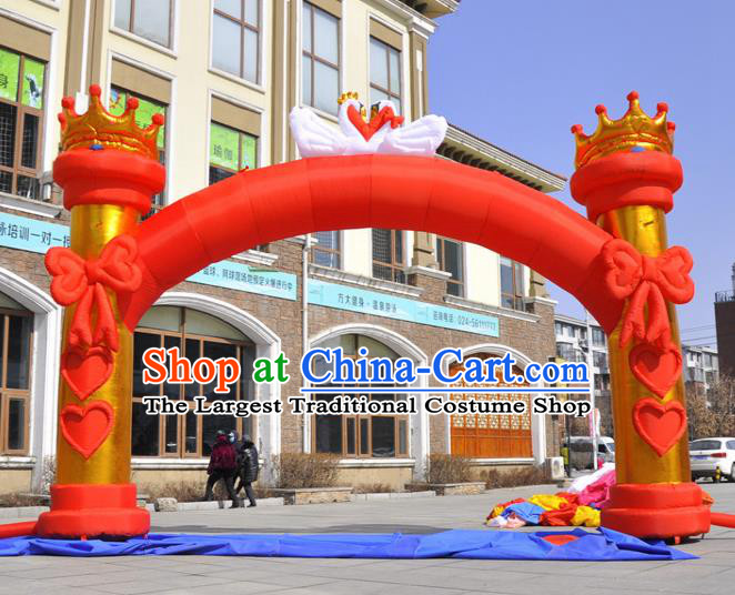 Large Christmas Day New Year Inflatable Red Bowknot Models Inflatable Arches Archway
