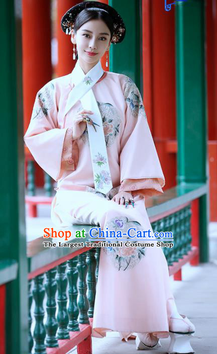 Chinese Drama Ancient Imperial Consort Dress Traditional Qing Dynasty Manchu Lady Replica Costumes for Women