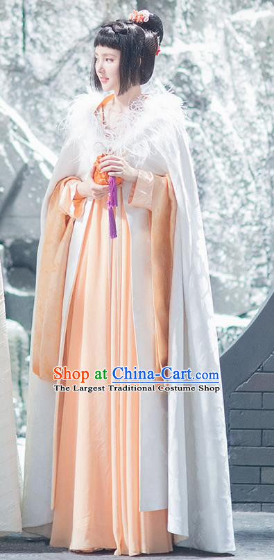 Chinese Ancient Drama Good Bye My Princess Tang Dynasty Imperial Consort Zhao Replica Costumes for Women