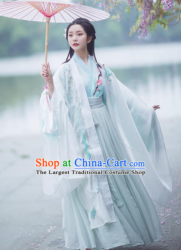 Chinese Ancient Imperial Consort Hanfu Dress Traditional Jin Dynasty Court Princess Costumes for Women