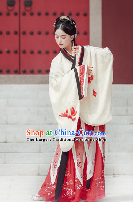 Chinese Traditional Han Dynasty Palace Lady Costumes Ancient Drama Goddess Hanfu Dress for Women