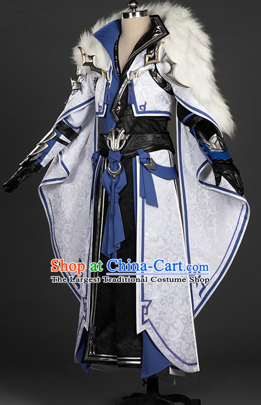 Chinese Traditional Cosplay King Costumes Ancient Swordsman Young Knight Clothing for Men