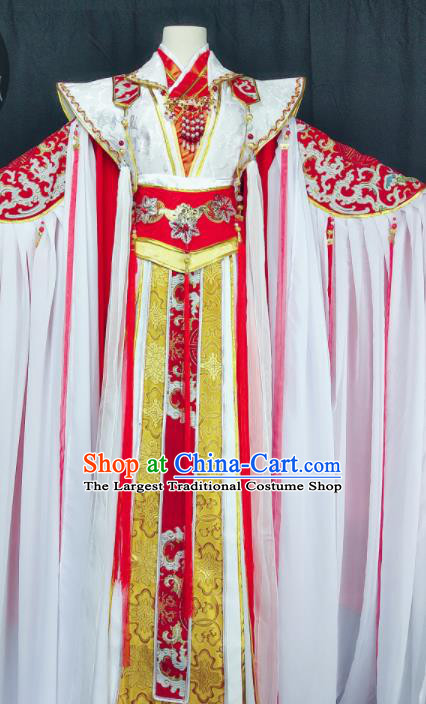 Chinese Traditional Cosplay Swordsman Costumes Ancient Crown Prince Clothing for Men