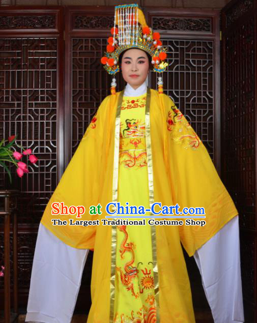 Chinese Traditional Beijing Opera Emperor Costumes Peking Opera King Clothing and Hat for Men