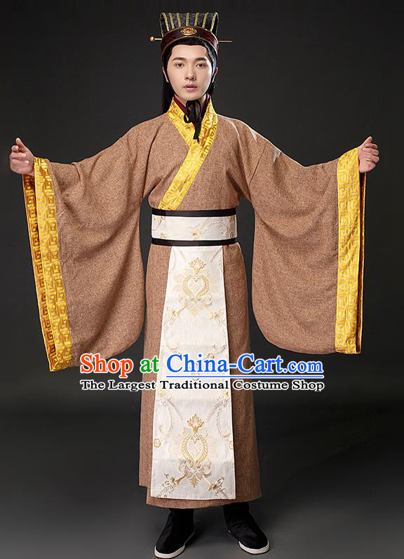 Chinese Ancient Royal Prince Clothing Traditional Han Dynasty Scholar Costumes for Men