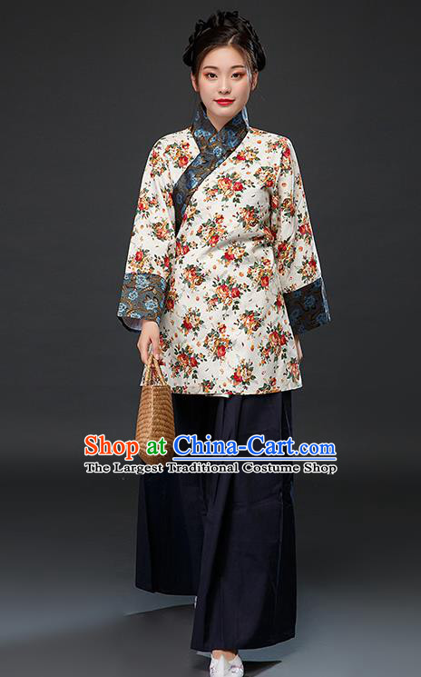 Chinese Traditional Ming Dynasty Female Civilian Dress Ancient Drama Maidservant Costumes for Women