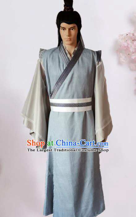 Chinese Ancient Song Dynasty Civilian Hanfu Clothing Traditional Ancient Poor Scholar Costumes for Men