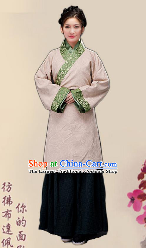 Chinese Ancient Song Dynasty Female Civilian Dress Traditional Hanfu Farmerette Costumes for Women