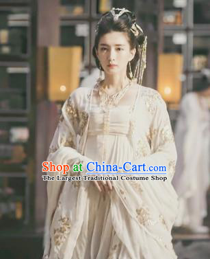 Chinese Ancient Royal Advisor of Hetang Kingdom Gong Yuyi Drama Novoland Eagle Flag Jiang Shuying Replica Costumes and Headpiece for Women