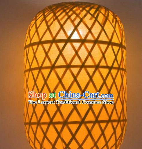 Chinese Handmade Palace Lanterns LED Lamp Bamboo Weaving Hanging Lantern
