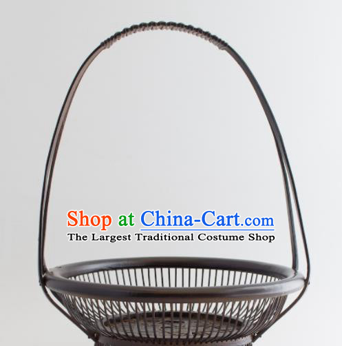 Chinese Handmade Bamboo Weaving Basket Traditional Cabas