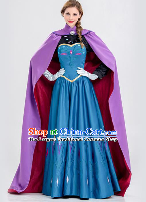 Traditional Europe Renaissance Queen Drama Stage Performance Dress European Halloween Cosplay Court Costume for Women