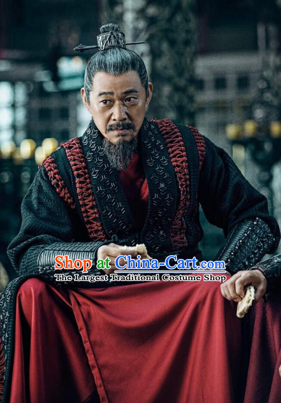 Chinese Ancient King Ying Wuyi Clothing Drama Novoland Eagle Flag Swordsman Zhang Fengyi Replica Costumes for Men