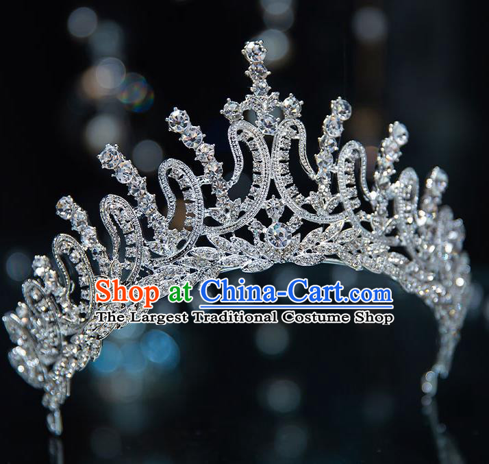 Top Grade Handmade Princess Zircon Royal Crown Wedding Bride Hair Accessories for Women