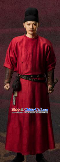 Chinese Ancient Tang Dynasty Imperial Bodyguard Yao Runeng Drama the Longest Day in Chang An Swordsman Replica Costumes Complete Set