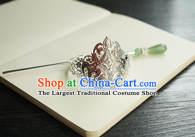 Chinese Hanfu Classical Hair Accessories Handmade Ancient Swordsman Hair Crown and Hairpin for Women