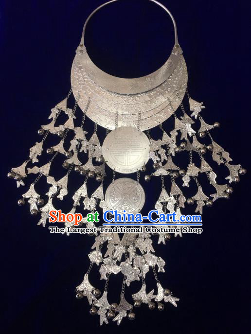 China Stage Show Nationality Accessories Hainan Li Ethnic Wedding Necklace Traditional Minority Folk Dance Jewelry