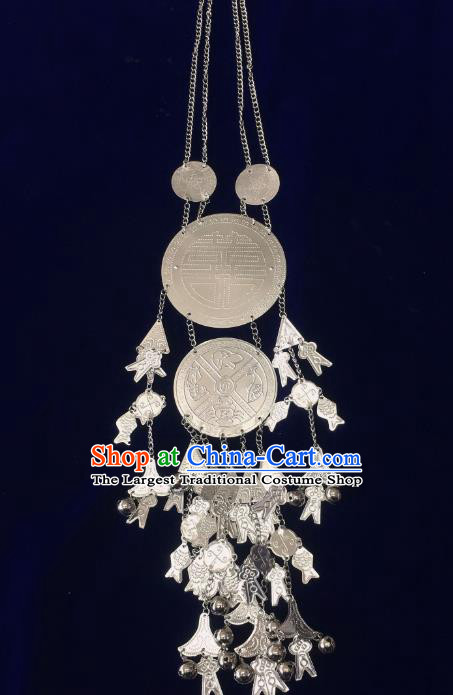 China Nationality Stage Show Accessories Traditional Minority Folk Dance Jewelry Hainan Li Ethnic Wedding Necklace