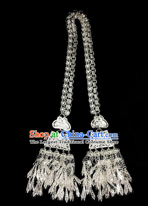 China Traditional Dong Minority Nationality Folk Dance Necklace Ethnic Accessories Butterfly Necklet