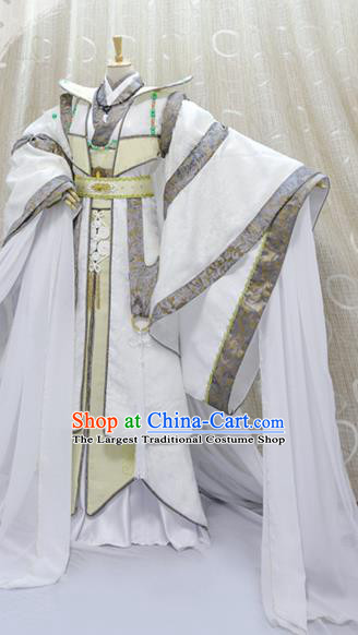 Cosplay Taoist Priest Jun Fengtian Costumes Custom China Ancient Swordsman Chivalrous Man Clothing