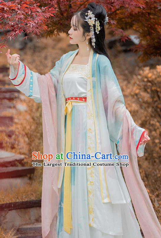 China Traditional Song Dynasty Nobility Lady Hanfu Clothing Ancient Court Princess Costumes for Women