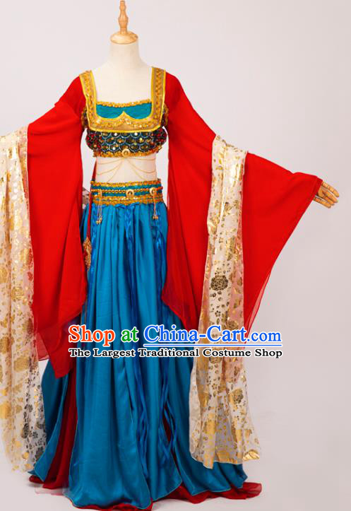 Chinese Cosplay Imperial Consort Costumes Ancient Fairy Princess Hanfu Dress Red Top and Skirt