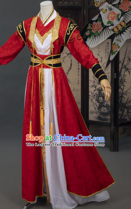 Cosplay Chinese Tang Dynasty Swordsman Costumes Ancient Chivalrous Man Wedding Clothing