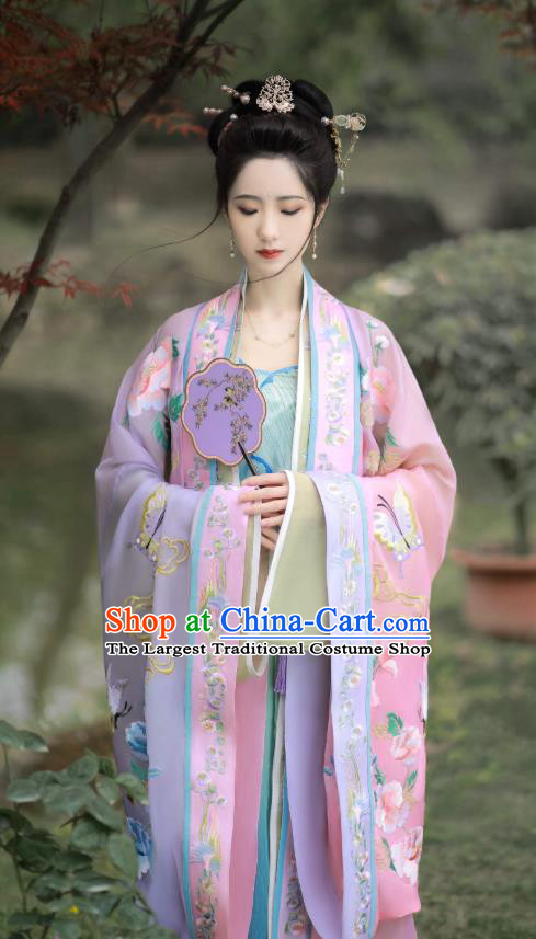 Traditional China Song Dynasty Court Women Historical Costumes Ancient Royal Princess Hanfu Dresses