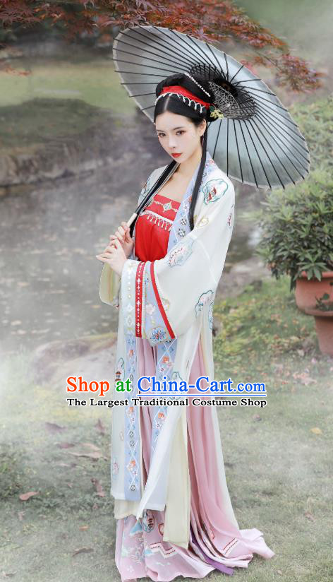 China Song Dynasty Country Woman Hanfu Fashion Traditional Historical Costumes Ancient Village Girl Costumes