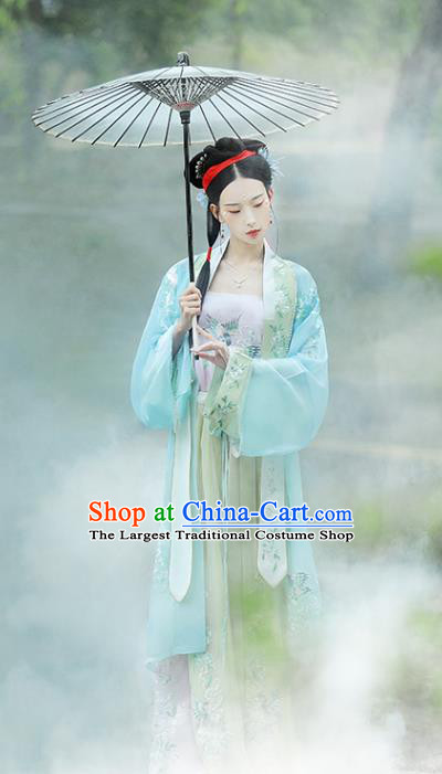 China Ancient Princess Dress Traditional Historical Costumes Song Dynasty Young Female Hanfu Clothing